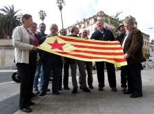 Novembre 2012: acte de represaliats independentistes davant la presó Model