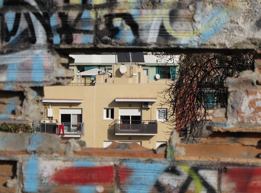 Sistrells des del 'mirador' del carrer de Gràcia.