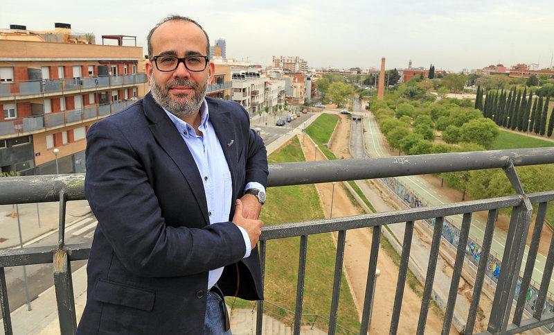 Oriol Lladó, candidat d'ERC a l'alcaldia de Badalona. Foto: Juanma Ramos.