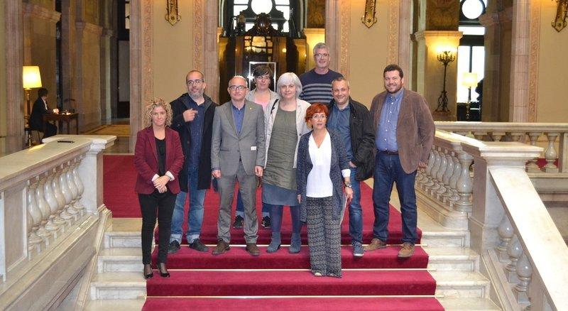 Barcelona. Diputats i regidors de Catalunya si que es pot, Junts pel sí i la CUP presenten una resolució al Parlament sobre l'autopista C-31