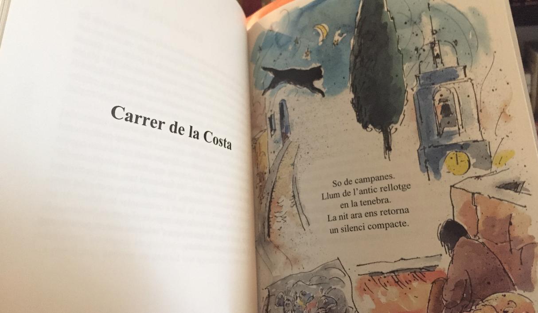 Benages Pla (dibuix) | Valentí Soler (poema). Del llibre Finestral d'un temps, editat per Pont del Petroli.