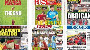 Derrota de España en el Mundial 2014 (Titulares Prensa)