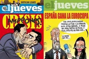 (El Jueves) España gana la Eurocopa 2012 y Rajoy se aprovecha