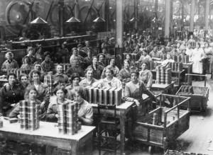 Dones treballadores. Indústria armamentística I Guerra Mundial