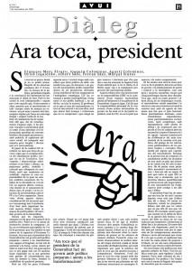 01 Ara toca president