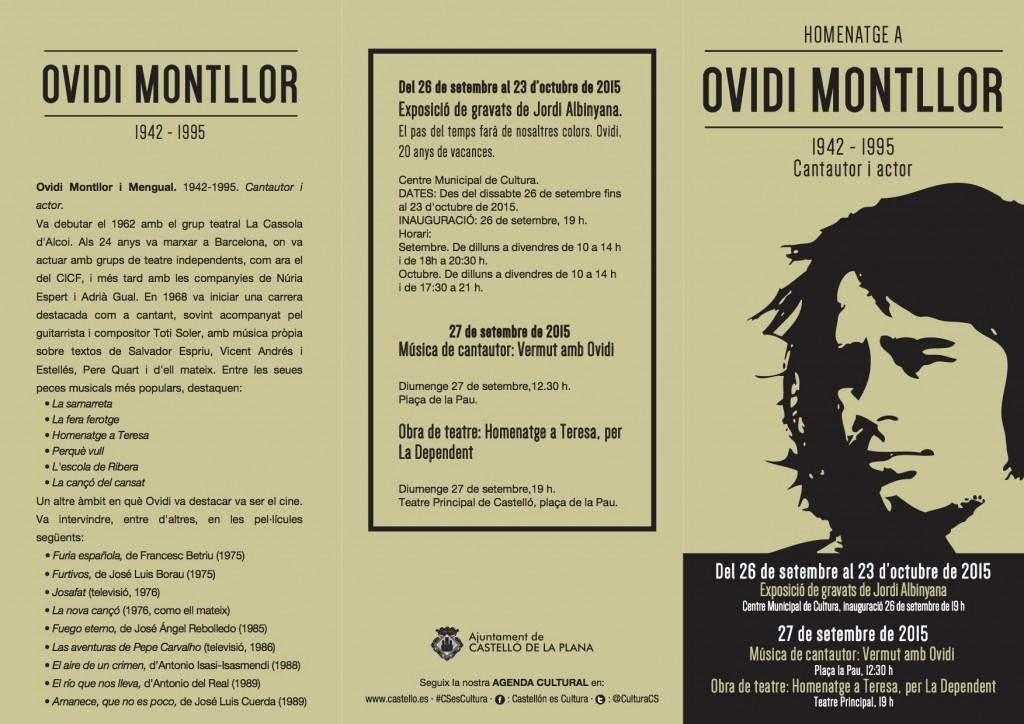 Tríptic homenatge a Ovidi a Castelló de la Plana