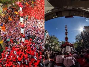 Els pilars de 7 vermells en perspectives confrontades