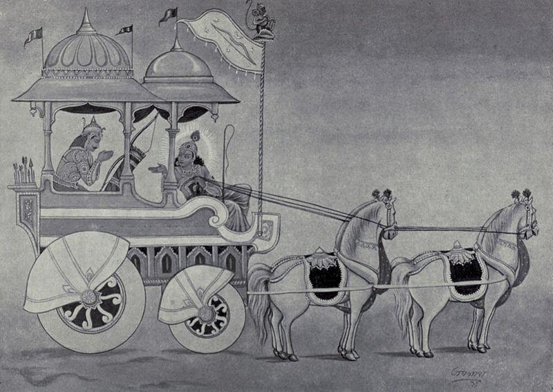 A les pàgines del Bhagavad Gita, Krishna alliçona Arjuna sobre els deures d'un kshatriya i, per extensió, de tots els éssers humans,en tots els àmbits.