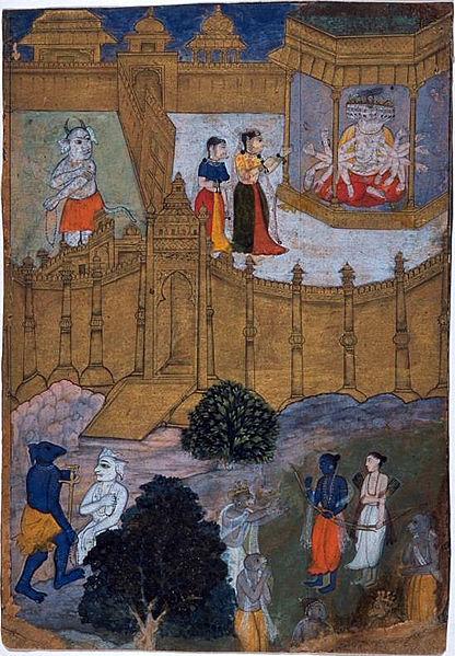Mandodari és un exemple permanent d'afecte conjugal.
