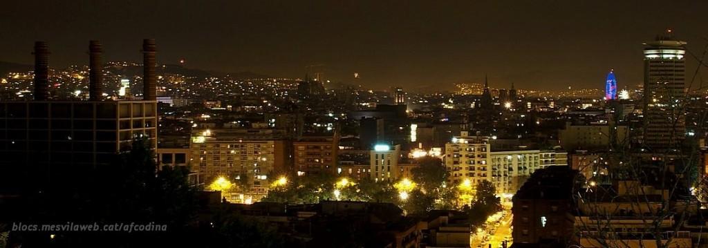 Barcelona, des dels jardins de Miramar