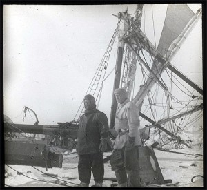 Frank-Wild-and-Ernest-Shackleton-and-the-crushed-Endurance