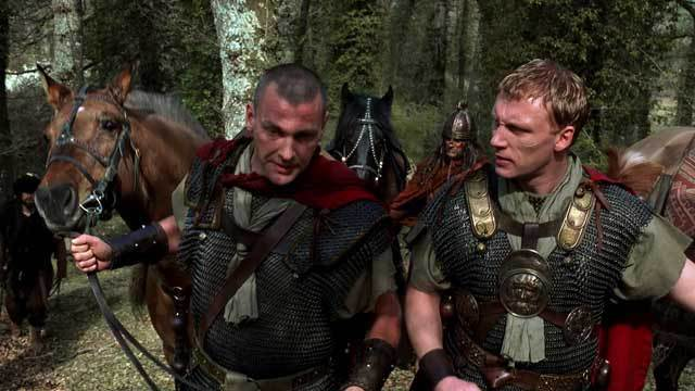 Stevenson i McKidd com a Pullo i Vorenus a la primera temporada de Roma