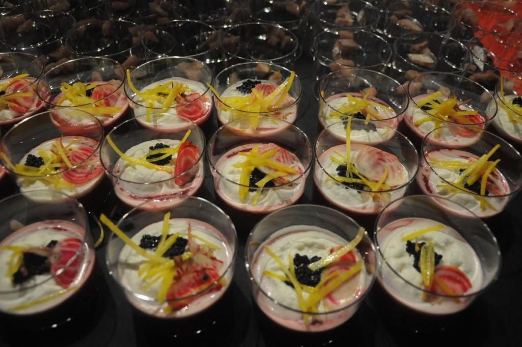 Gaspacho de betterave Crapaudine, écume et caviar de hareng saur, Christophe Comes, La Galinette Perpinyà