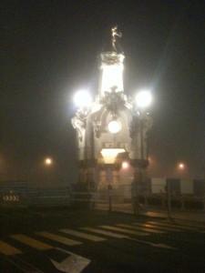 Donostia. Gener del 2015. La boira embolcalla la ciutat.