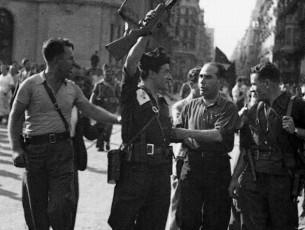 19 Juliol 1936 Joan Garcia Oliver celebra l'èxit anarquista contra l'aixecament feixista