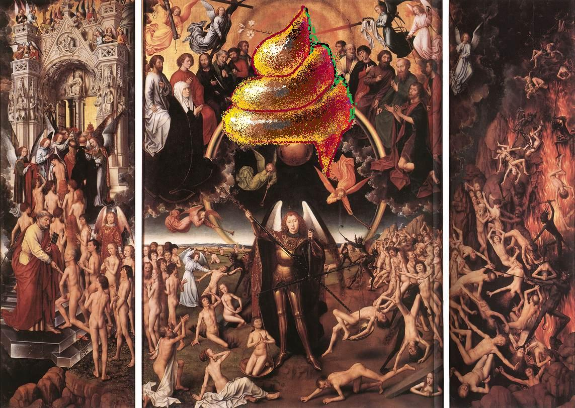 La imatge base: Hans Memling, Last Judgment Triptych (open) 1467-71