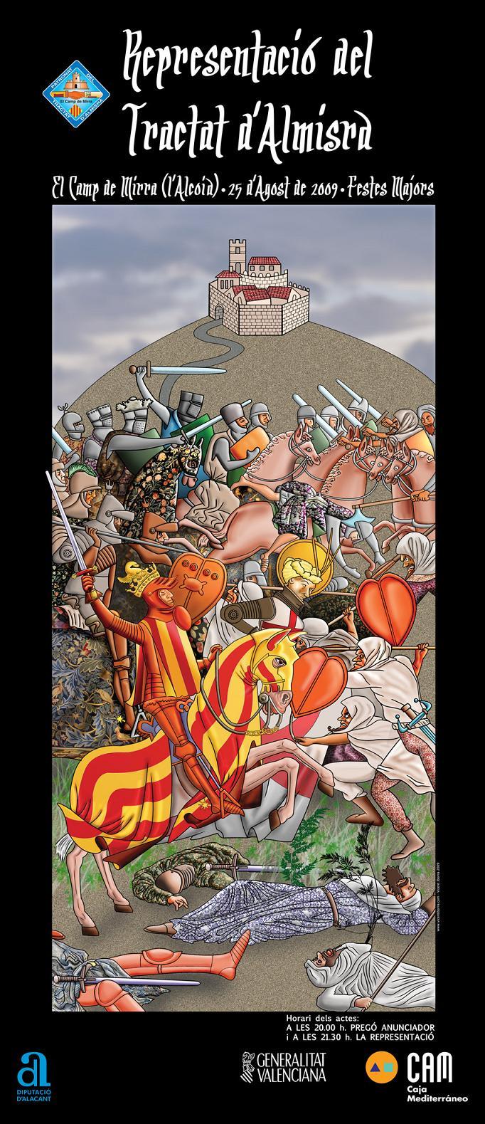 Cartell de Vicent Iborra per a la conmemoració del Tractat d'Almisrà.