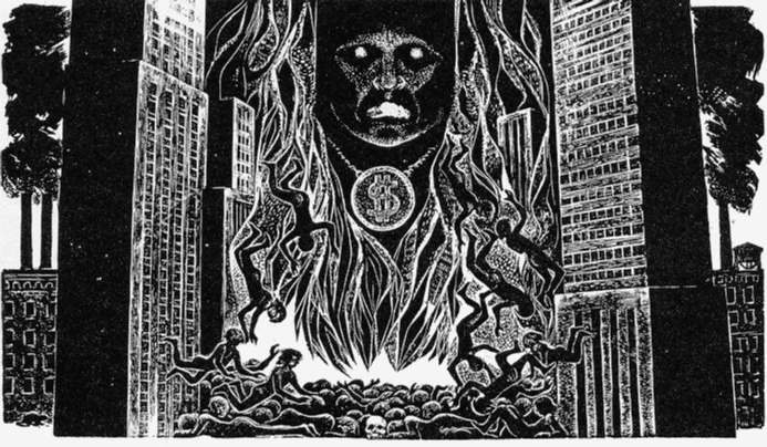 "Moloch,"" by Lynd Ward (1980) SOURCE: Allen Ginsberg, Howl, ed. Barry Miles (New York: Harper & Row, 1986)."