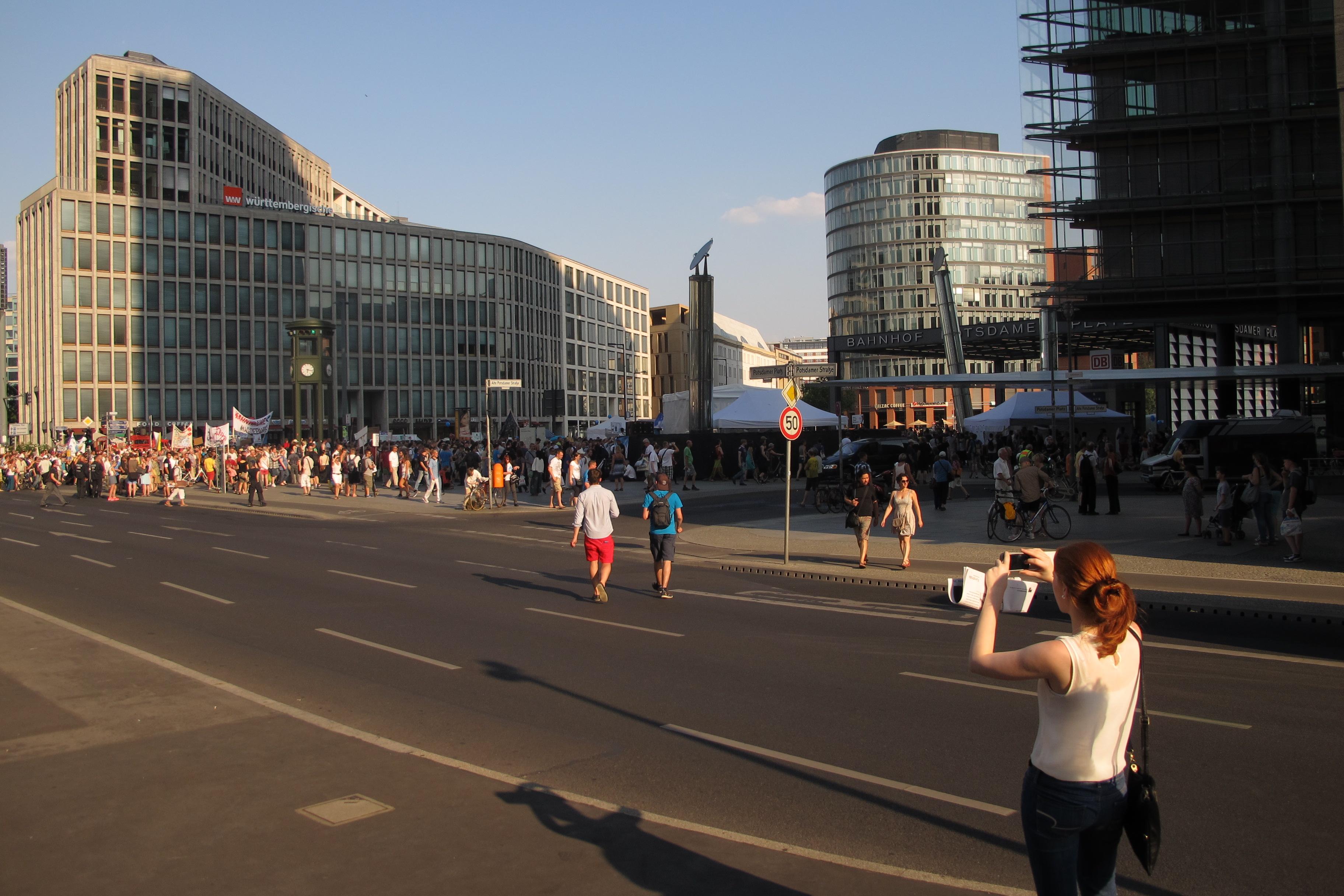 Manifestació contra els bombardejos de Gaza a la Postdamer Platz (1)