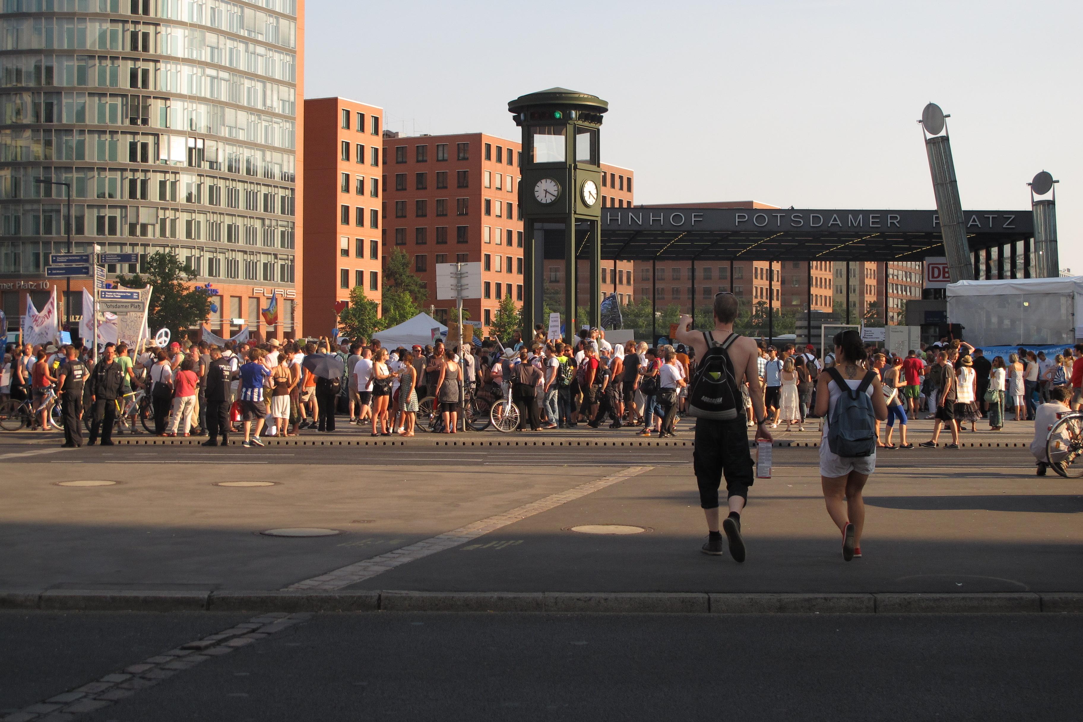 Manifestació contra els bombardejos de Gaza a la Postdamer Platz (4)