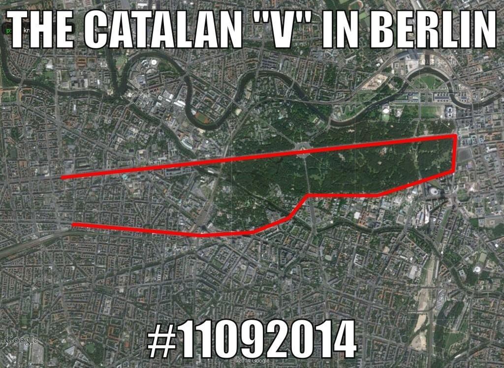 The catalan V in Berlin.