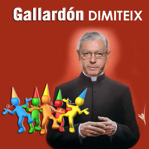 Gallardón dimiteix, gran alegria per a molts.