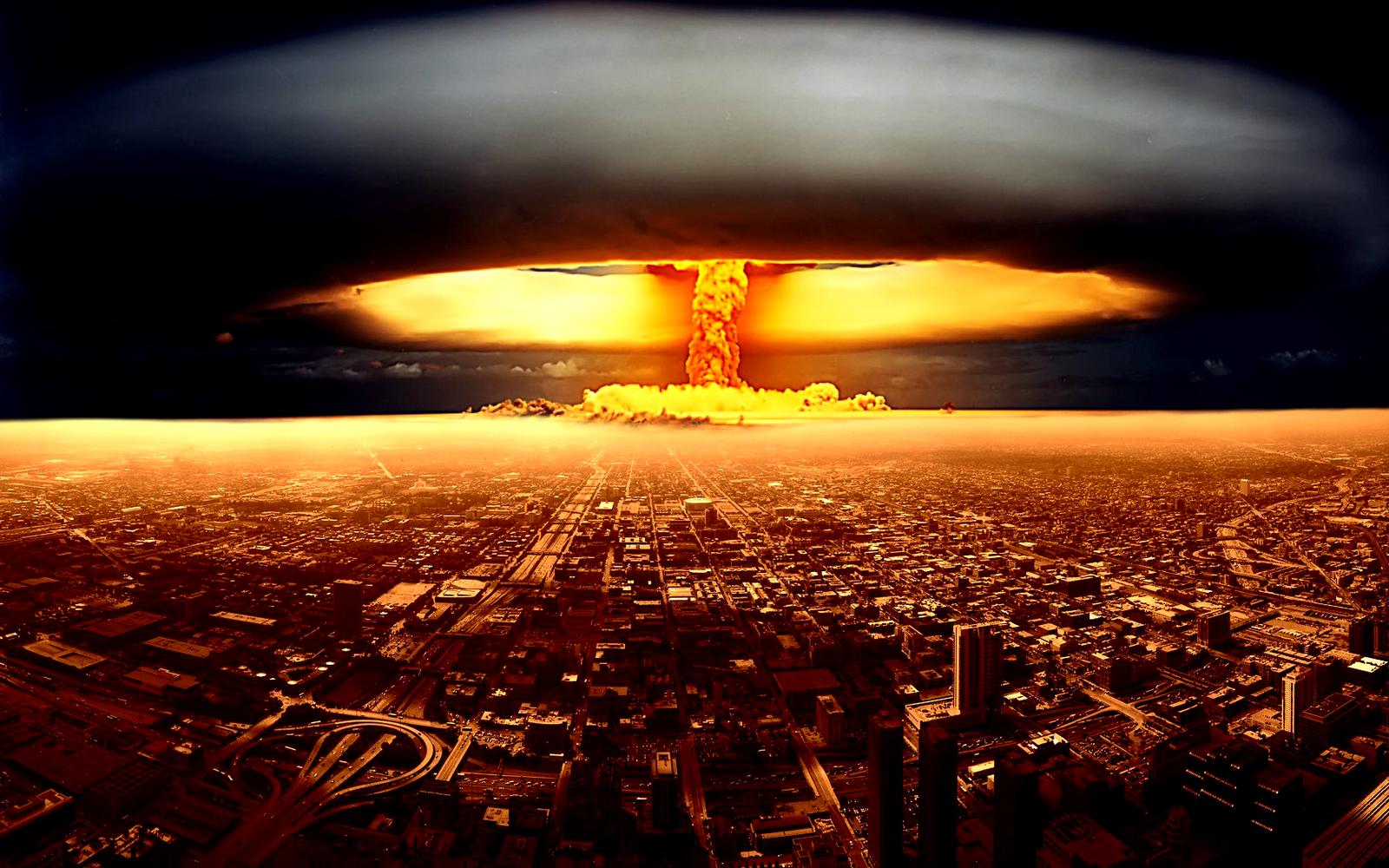 Explosió nuclear en una gran ciutat. El final d'alguna cosa o l'inici creatiu de tot bé i pau?