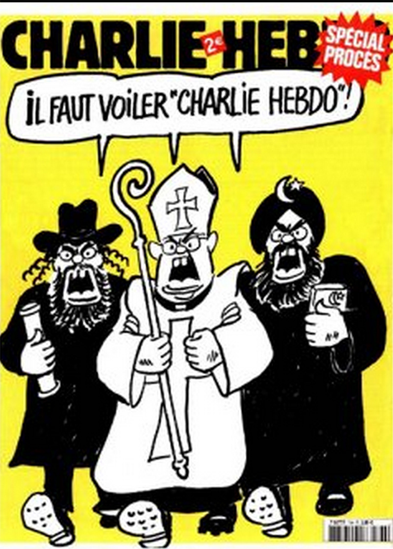 Charlie Hebdo mostra amb el seu martiri involuntari, com  la religió té por a la llibertat de pensament