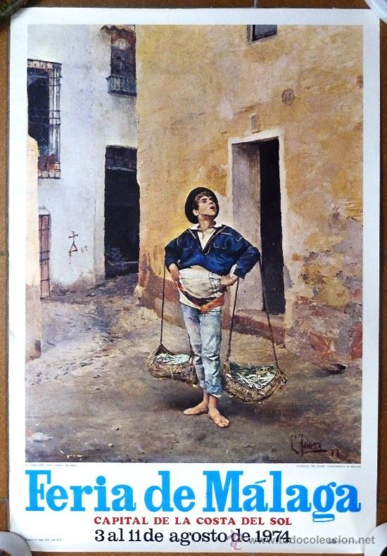 Cartell de la féria de Màlaga amb El Cenachero.