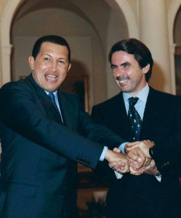 Dos bolivarians, Chaves i l'amic Ansar (J.M. Aznar)