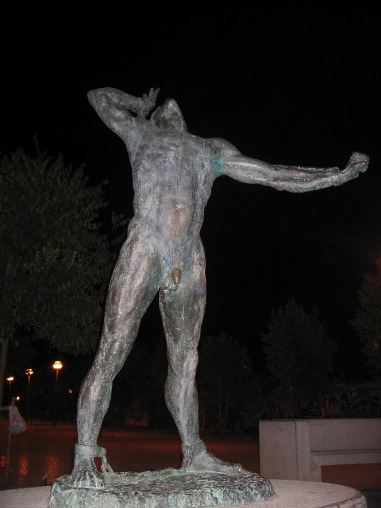 Escultura de Joanot Colom a Palma del felanitxer Jaume Mir
