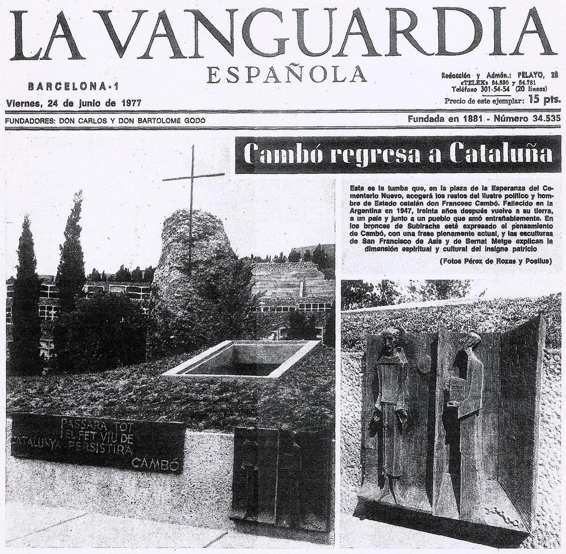 LA MOLT MISTERIOSA (i no investigada) MORT DE CAMBÓ