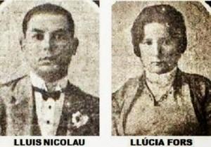 Fotografies de Lluís i Llúcia el dia de les noces
