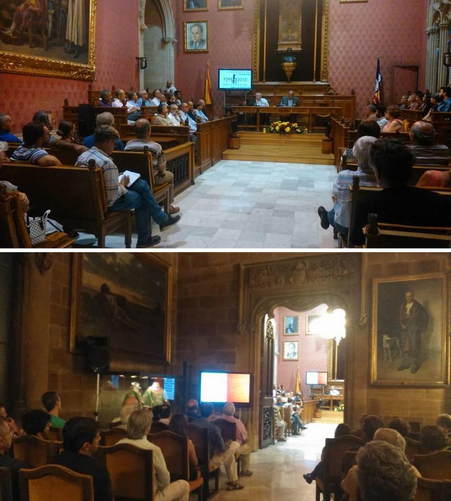 La Sala de Plens i l'adjunta (14-IX-2015). Fotos: Manuel Domènech