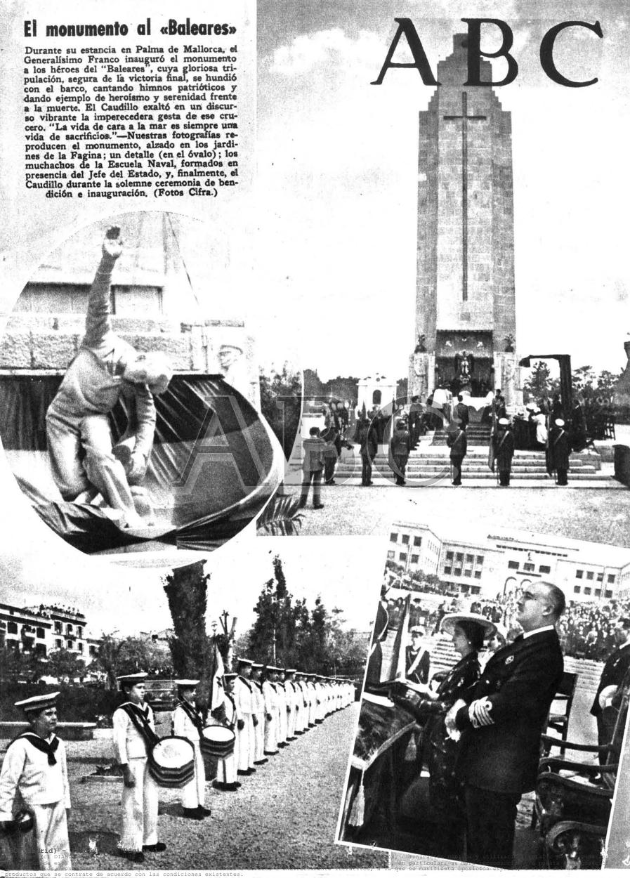 Franco, amb desfilada militar i exaltació feixista, inaugurà el nyarro el maig de 1947