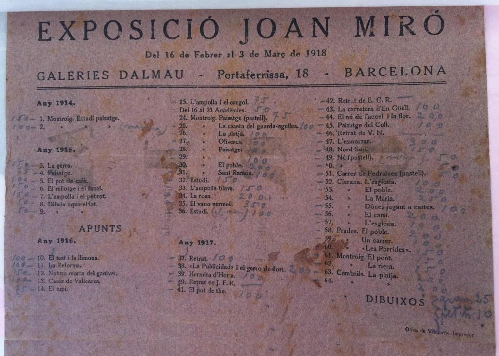 Interior del catàleg amb els preus de les obres