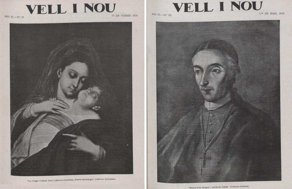 Els dos exemplars on Pere Oliver publicà crítiques