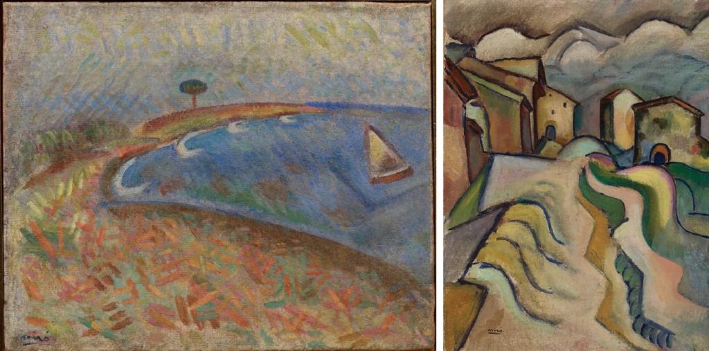 Platja de Montroig i Siurana, dues obres de la primera exposició