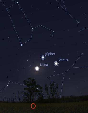 Lluna-Venus-Jupiter