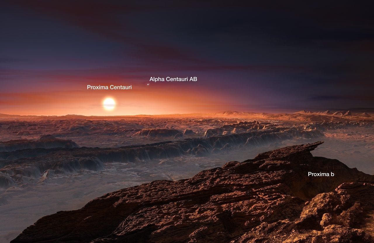 Artist's impression of the planet orbiting Proxima Centauri (ann