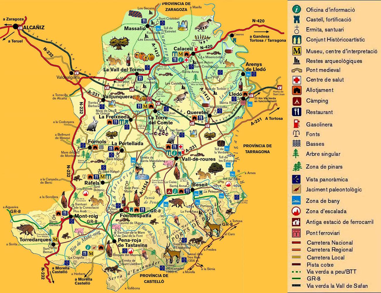 2d6932201f5c9 Pel nord la comarca del Baix Aragó-Casp el connecta amb la Vall de l Ebre.