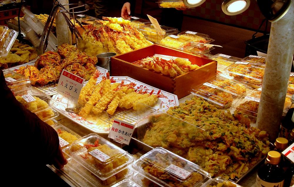 Parada de venda de tempura.