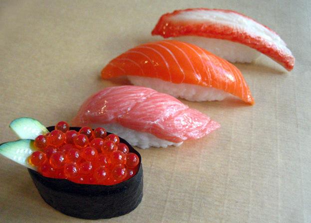 Sushi de plàstic.