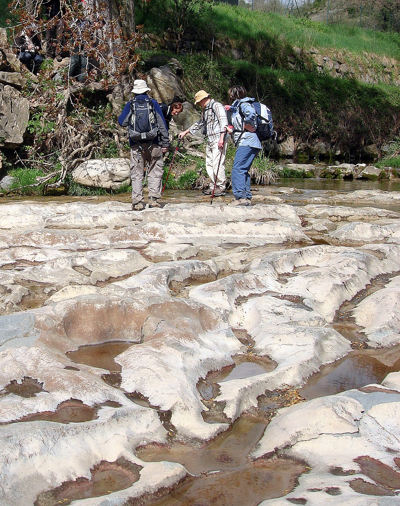 Pedres afectades per l'acció de l'aigua.