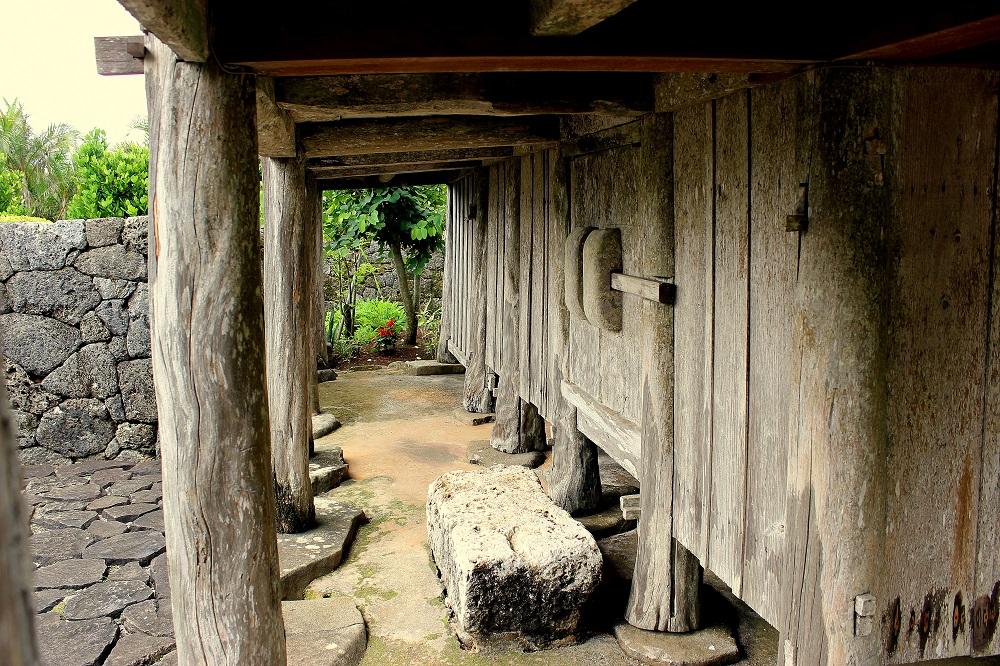 Detall d'una casa museu de l'interior de l'illa