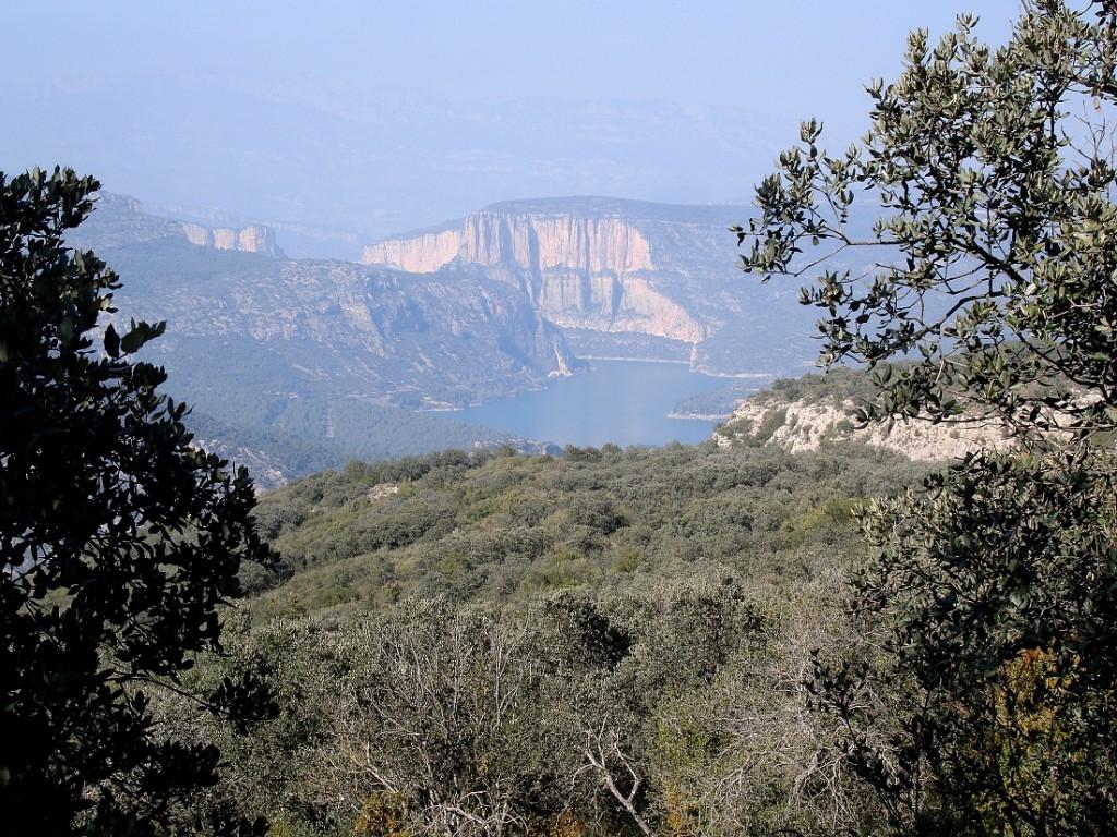 El pantà de Camarasa des del Mont-roig