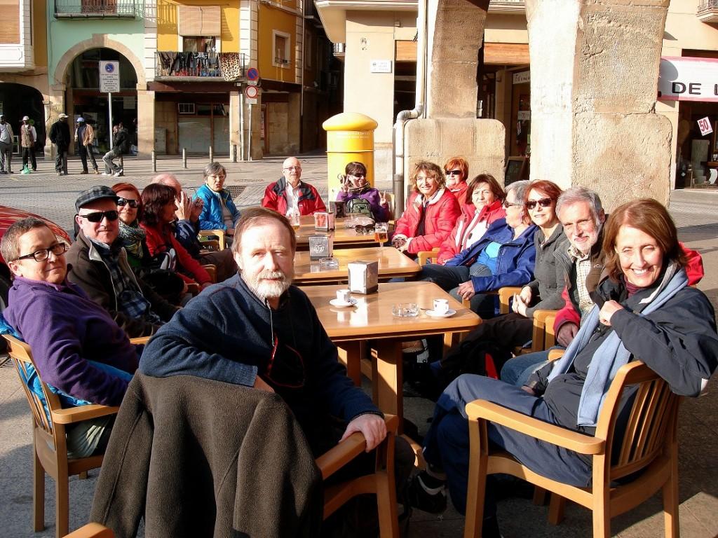 A Balaguer, després de la caminada