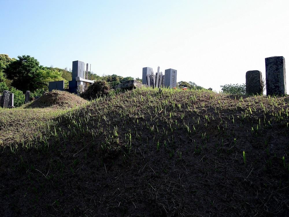 Detall d'un petit cementiri de poble