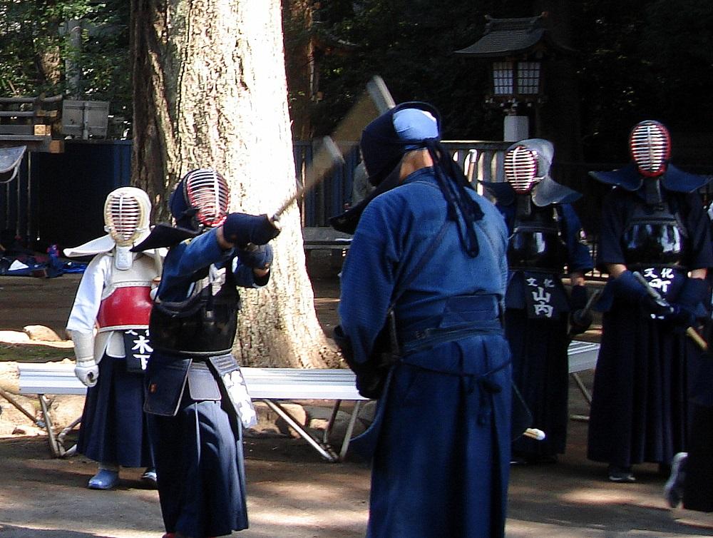 Entrenament de kendo, art marcial formatiu amb sabre de bambú