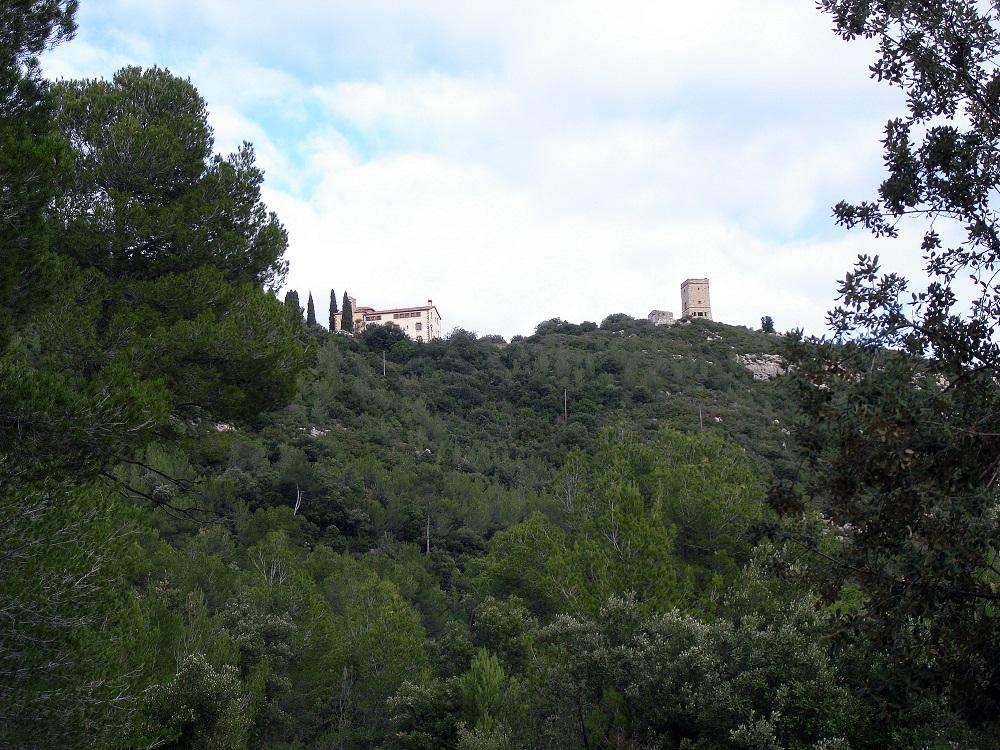 Puiggraciós i la Torre Òptica a la vista